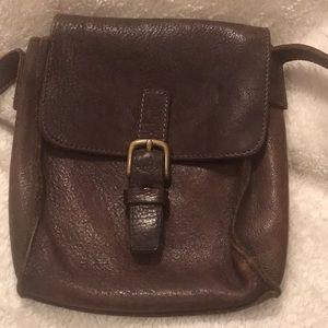 Gap Vintage Pebbled Rustic Leather Crossbody Bag